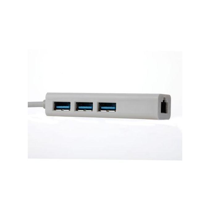 Adaptateur Usb30 Vers 3 Ports Usb 30 Et Rj45 Prise En Charge Du Réseau Local Ethernet 100 Mbps Ethernet