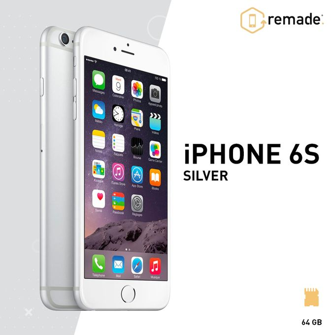 remade iphone 6s 4g 4 7 64go ios argent reconditionn prix pas cher jumia maroc