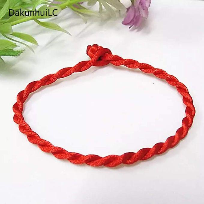 Bracelet En Nylon Rouge Tressage De Cordes Mains Et Cheville Cordville