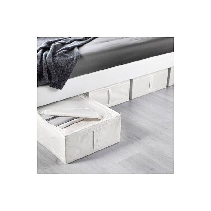Ikea Boîte de rangement, blanc, 44x55x19 cm à prix pas cher | Jumia Maroc