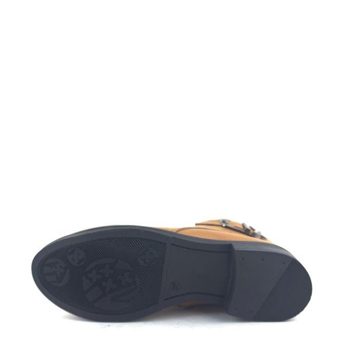 et 2019 Fashion Très chaussure Haut Tendance chic Bottine botte Cuir qualité d'hiver Confortable Marron trdshQCx