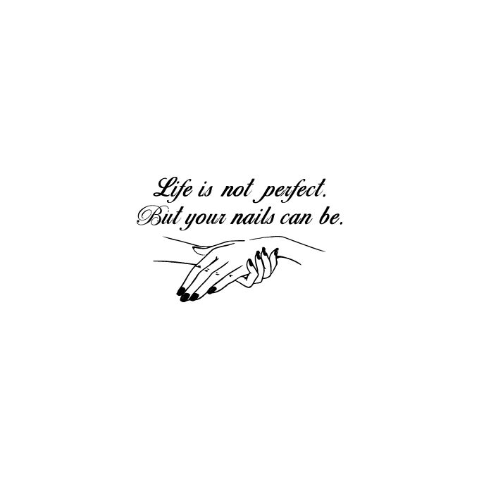 Sticker Citation Life Is Not Perfect Stickers Nails Fashion Noir Ci 0080