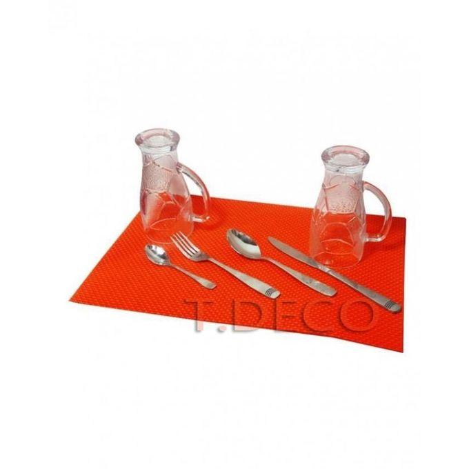 Set De 4 Napperon Réctangulaire Orange