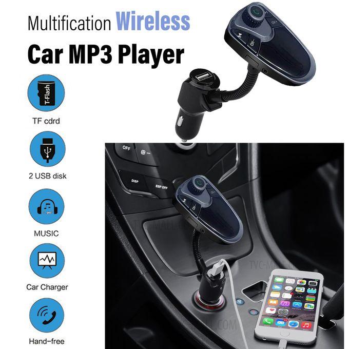 Mp3 Player Transmetteur Fm Adaptateur Avec 3 Usb Micro Sd Radio Voiture Lecteur Mp3 Kit Mains Libres
