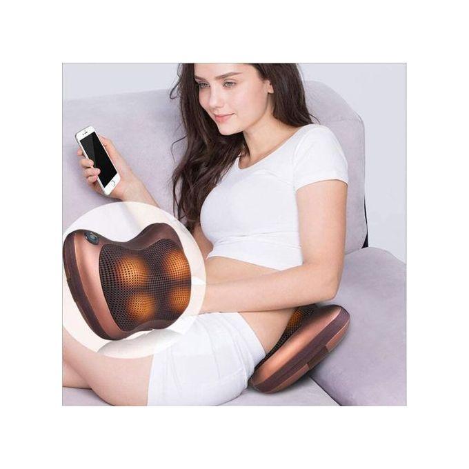 AHwjr U en Forme De Coussin Le Cou De L/épaule Multifonctions Correction USB /Élasticit/é Intelligente De Mode Mute Double-Face Famille De Bureau du V/éhicule,Marron Coussin De Massage
