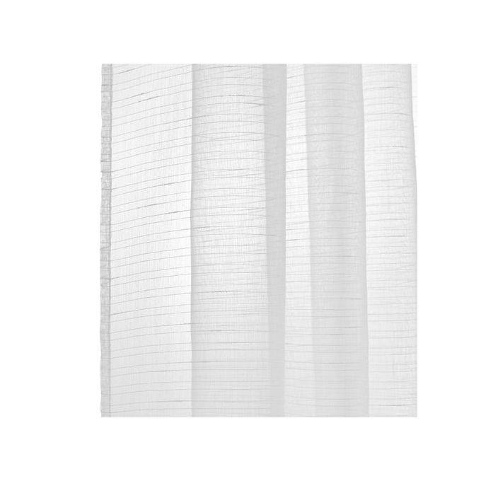 Rideau Voilage Blanc Octavia Dim 140x260cm Finition Anneaux Lavable à 30