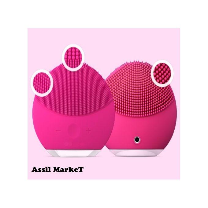 Brosse Nettoyante Masseur Pour Visage Vibrante Pour Tous Types De Peaux Convient Aux Peaux Sensibles Appareil Anti Rides Couleur Rose