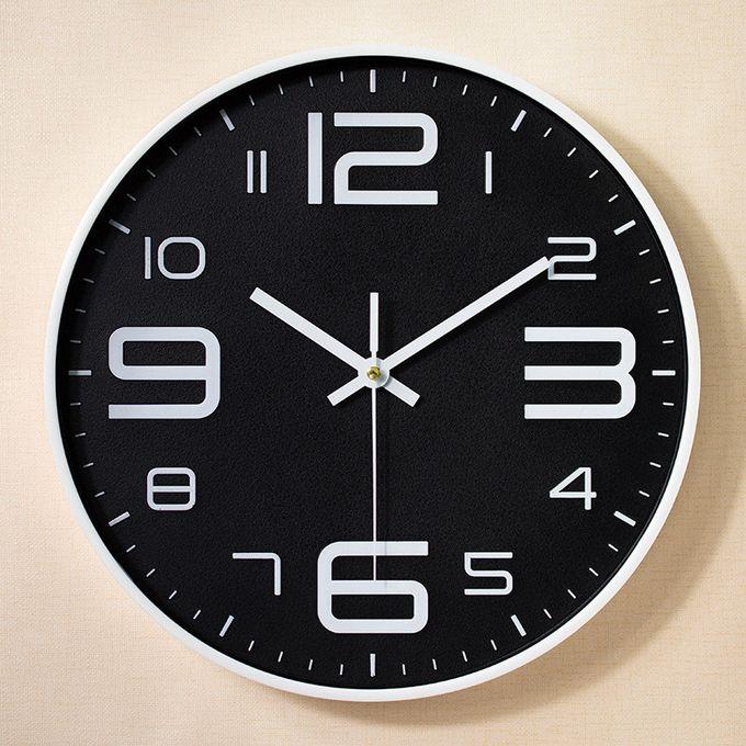 Generic Modern Glass Wall Clock Home Living Room Powered Deep Black à Prix Pas Cher Jumia Maroc