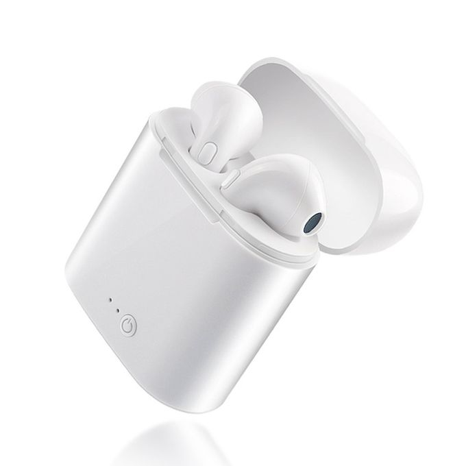 product_image_name-Generic-Small I7 TWS Wireless Waterproof Noise Reduction HD HIFI In-Ear Earphones white-1