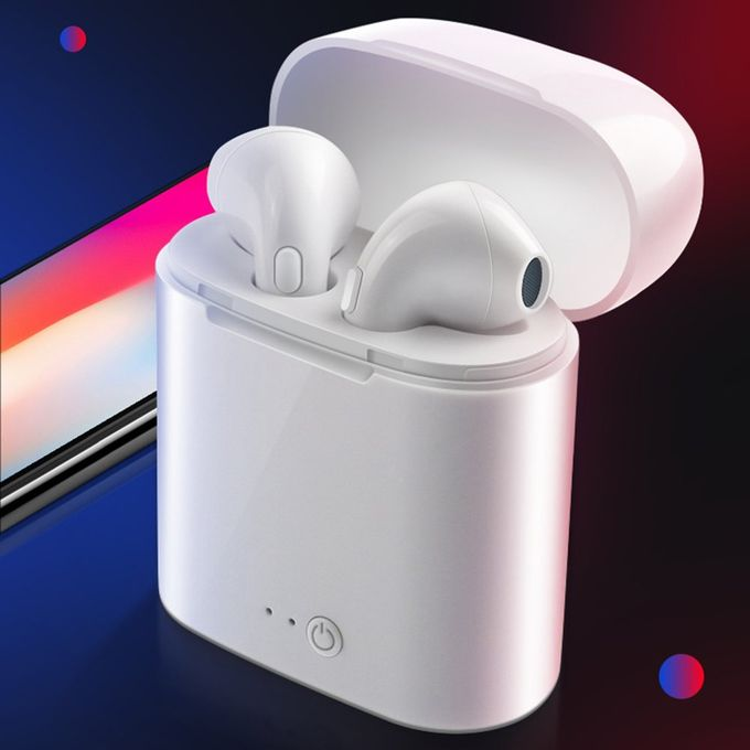 product_image_name-Generic-Small I7 TWS Wireless Waterproof Noise Reduction HD HIFI In-Ear Earphones white-5
