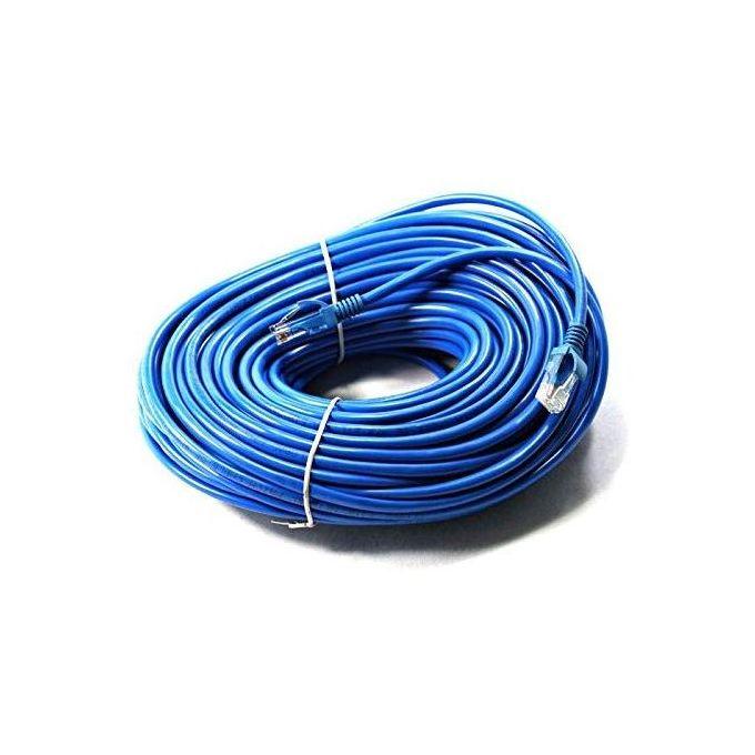 Cable Reseau Ethernet Rj45 200m Cat6 Bleu Qualité Pro Haut Débit 8 Fils