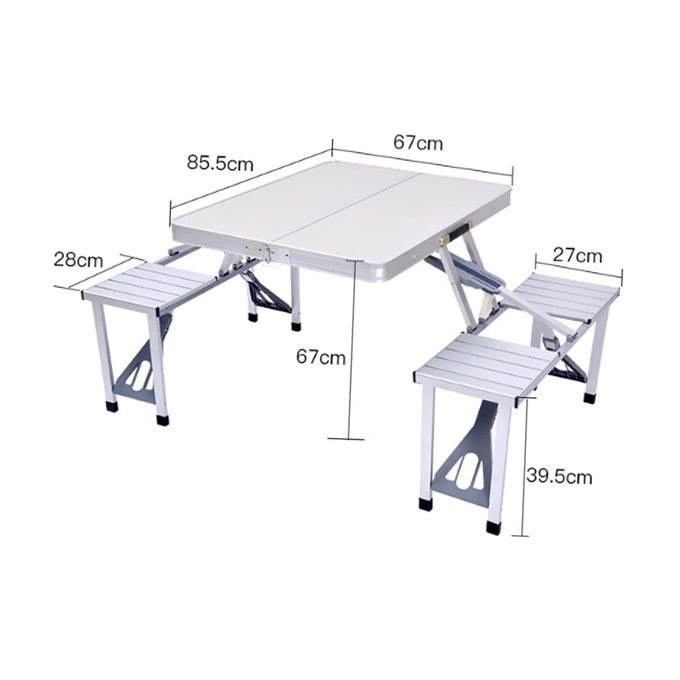 Folding Chair Ensemble Table De Camping Jardin Pique Nique Pliante En Alliage D Aluminium 4 Chaises Pliante Emplacement Pour Parasol A Prix Pas Cher Jumia Maroc