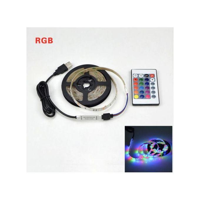 Bande Led Usb Lampe Dc5v Flexible Lumière Led Ruban Ruban 1 M Hdtv Tv écran De Bureau Biais éclairage Avec Télécommande Controller