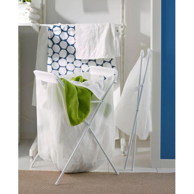 Ikea Sac A Linge Et Support Blanc 70l A Prix Pas Cher Jumia Maroc