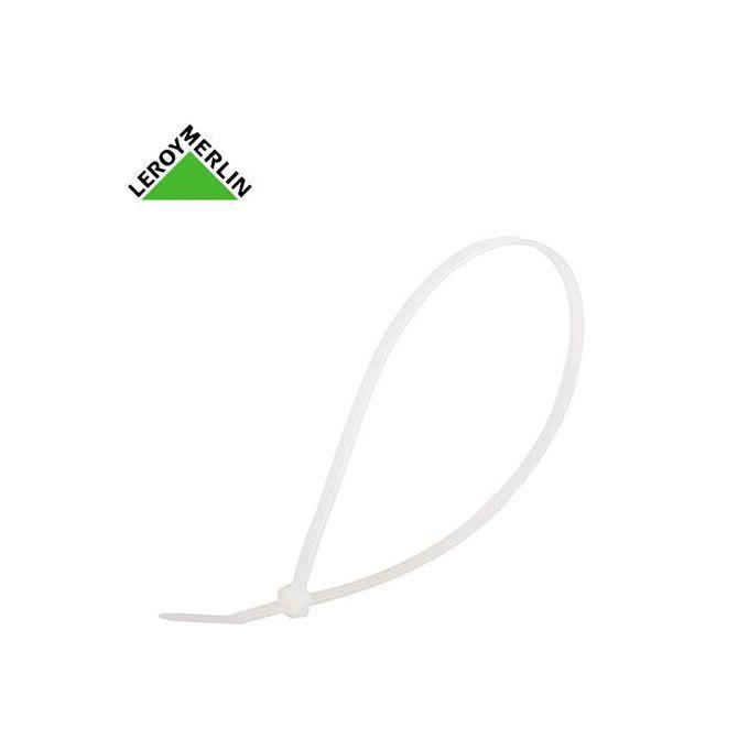 Attache Fils Collier 35x300mm Blanc Sachet De 100 Pièces