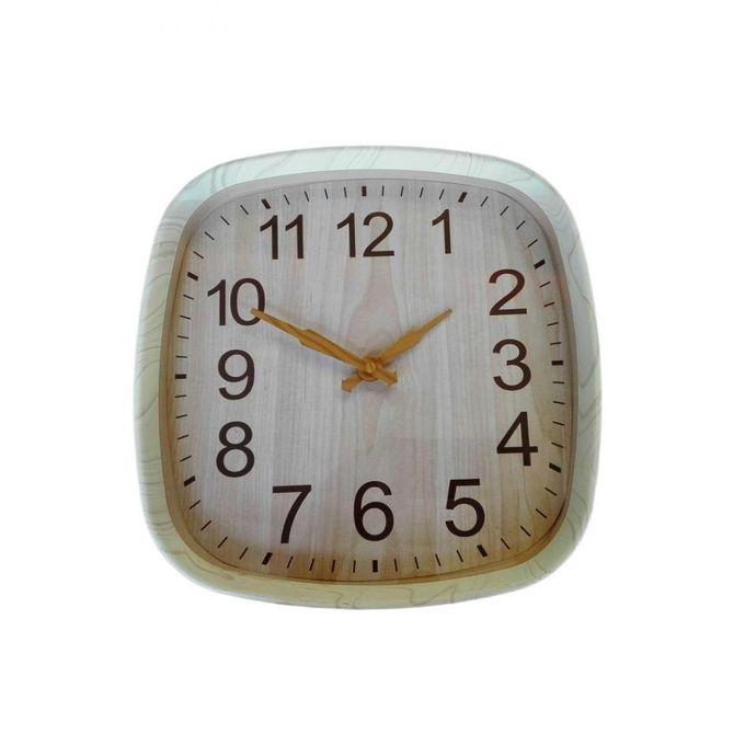 Horloge Murale Silencieuse Carrée Blanc