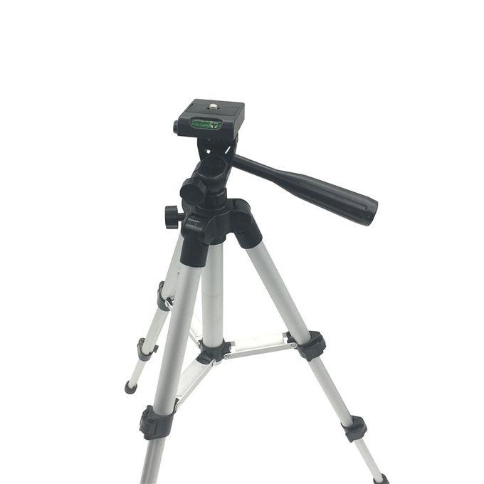 Support De Trépied Professionnel Pliable Caméra Support Vis 360 Degrés Tête Fluide Trépied Stabilisateur Aluminium Avec Support Pour Téléphonelarge