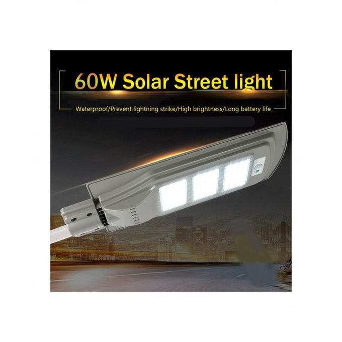 product_image_name-Generic-Lampadaire Solaire 60W avec panneau solaire intégré et détecteur de mouvement-4