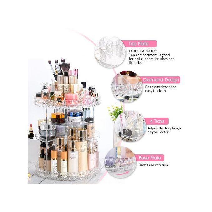Generic Organisateur Maquillage Rotatif 360 Transparent Boite De Rangement Coffret A Prix Pas Cher Jumia Maroc