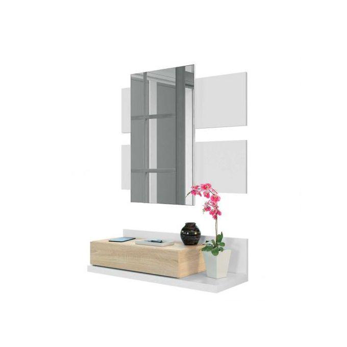 tekkan meuble d entree avec miroir