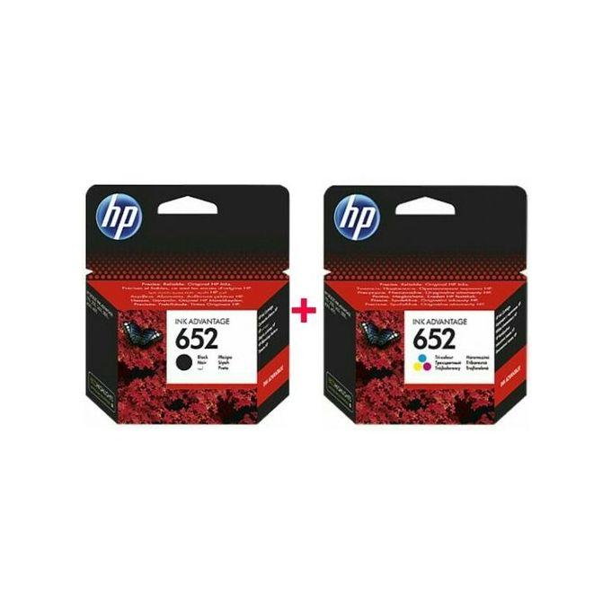 Hp PACK - Cartouche 652 Noir + 652 Couleur - Produits ...