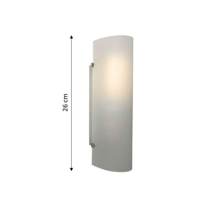 Applique Hanko Verre Blanc Culot E27 Haut 25cm Garantie 2 Ans