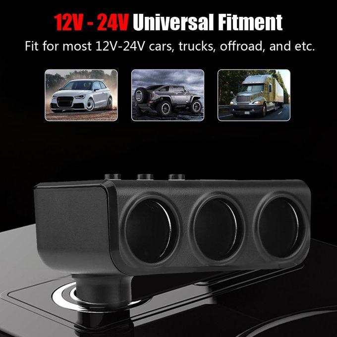 12v 24v Car Power Socket Splitter Adapter 31a Dual Usb Charger Voltmeter