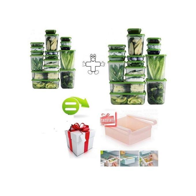 Pack 2 Ensemble Dajustement Alimentaire De 17 Boites Transparents Pruta Suède Import Plus Boite De Rangement Refrigerateur Offert