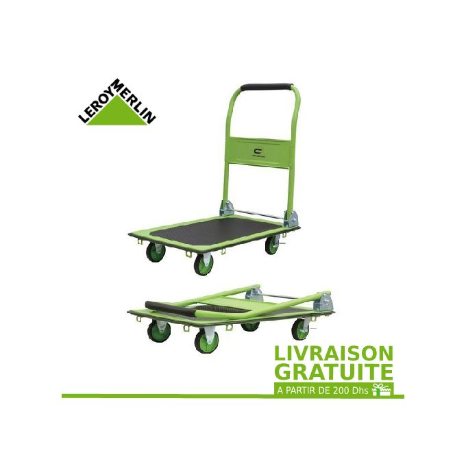 Chariot De Transport Pliable Standers Charge Garantie 150 Kg Garantie 1 An
