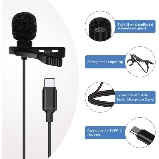 Lavalier Microphone Audio Port Type C Longueur 3m GL-121, imychic