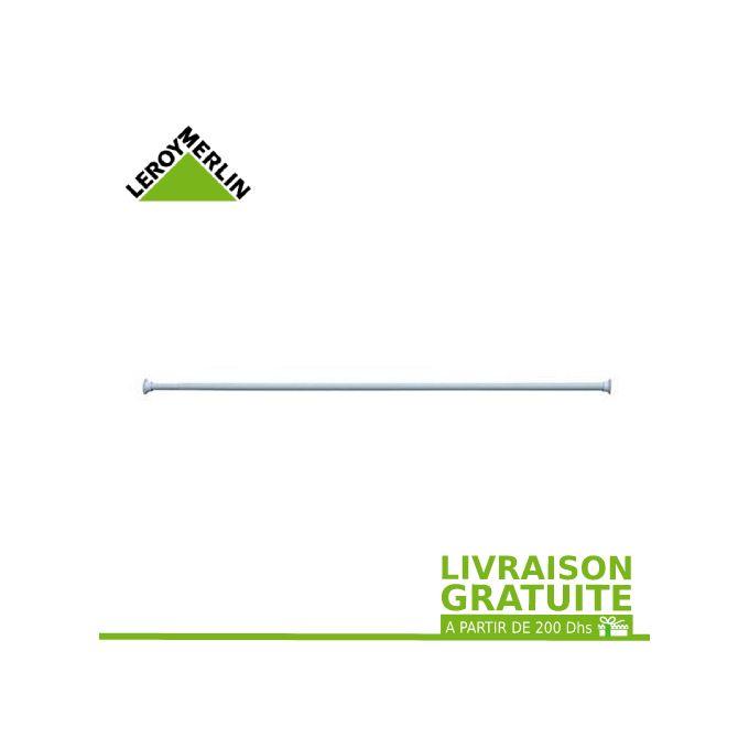 Barre Rideau Droite Extensible De 120 à 220 Cm Blanc Garantie 2 Ans