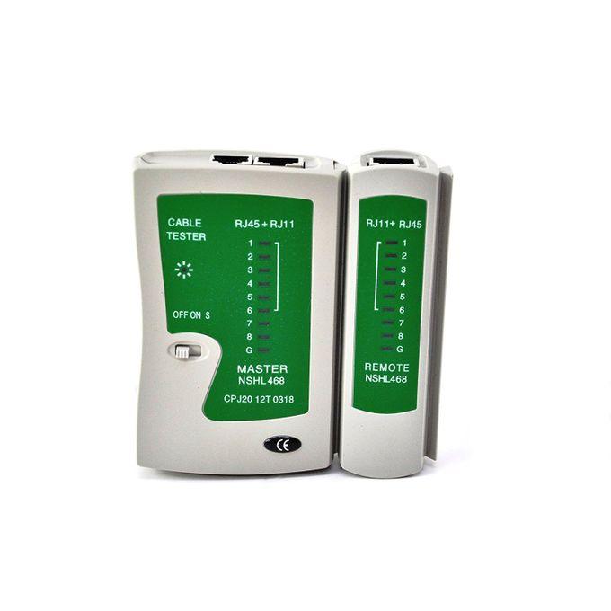 Testeur Outil Internet Pro Câble Réseau Test De Capacité Haut Débit Connexion Vitesse Pour Lan Rj45 Rj11 N21cl Cat 5 Ethernet Ligne