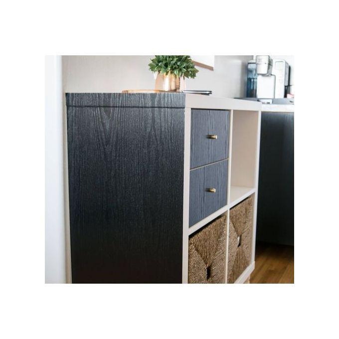 Generic Rouleau de Papier Adhésif look bois noir pour meubles 45cm x 2m Made in Germany à prix ...