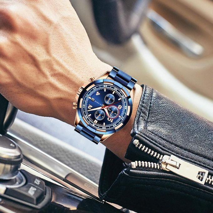 Minifocus Top Marque De Luxe Hommes Montre Hommes Quartz étanche En Acier Inoxydable Sports Montre Hommes Horloge Mâle De Mode Montre Daffaires