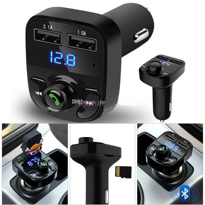 Mp3 Player Transmetteur Fm Adaptateur 2 Usb Micro Sd Radio Voiture Lecteur Mp3 Kit Mains Libres Sans Fil Dans La Voiture Bluetooth