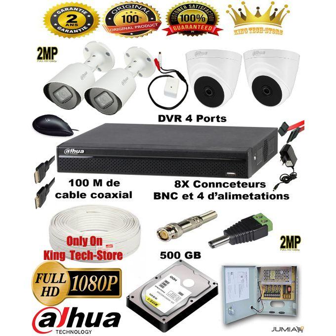 Kit Vidéos Surveillance Complet De A à Z Les Cameras De Surveillance De Dahua 2mp 1080p مجموعة كاملة من كاميرات المراقبة من الألف إلى الياء
