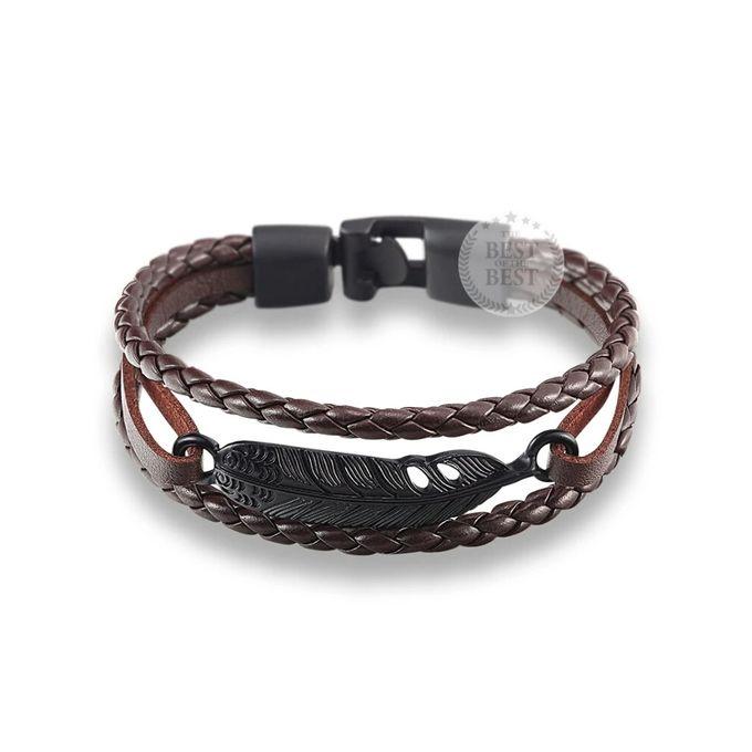 bracelet cuir avec pendentif