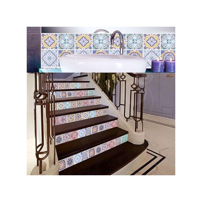 Generic 24 Pcs Style Marocain Carrelage Autocollants Stickers Muraux A Prix Pas Cher Jumia Maroc