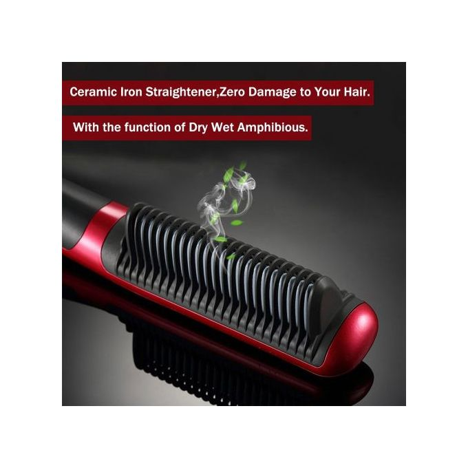 New électrique Brosse à Cheveux Lissante En Céramique Hqt 908b Hair Straightener