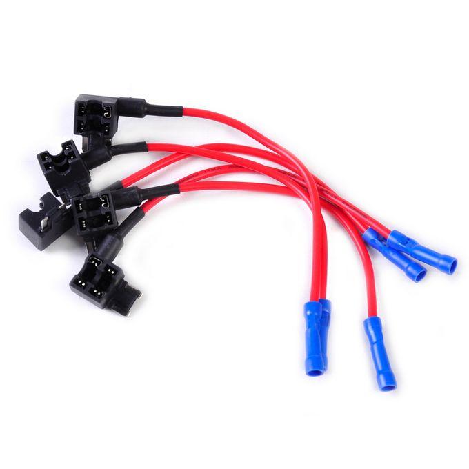 5pcs Voiture Circuit Auto Fuse Tap Adaptateurs Porte Fusibles Lame Pour Facile Et Utilisation En Toute Sécurité