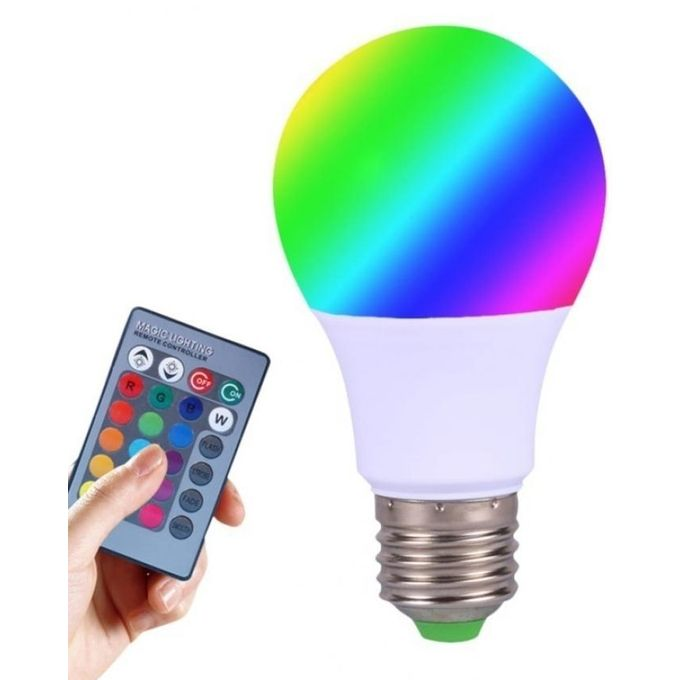 Lamp 6w Led Rgb Multicolor Bulb 220v 16 Color 24 Key Ir Remote Control Dimmable Light Ampoule For Home Decoration