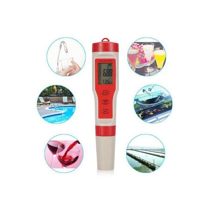 4 In 1 Function Ph Tds Ec Temp Digital Water Quality Tester Monitor Meter Test Pen