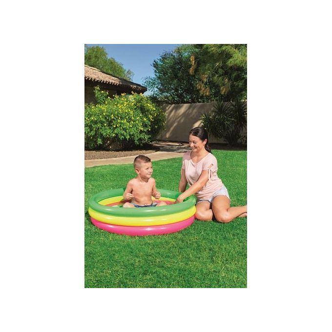 Piscine Multicolore à Sol Gonflable 102m X 25cm