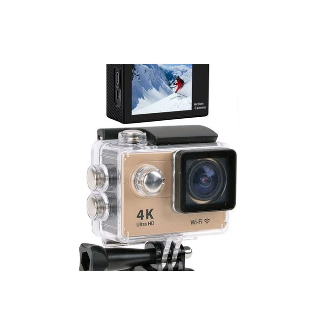 Caméra Sport Wifi Ultra Hd 4k Wifi Action Caméra Sous Marine étanche 30m Avec Accessoires