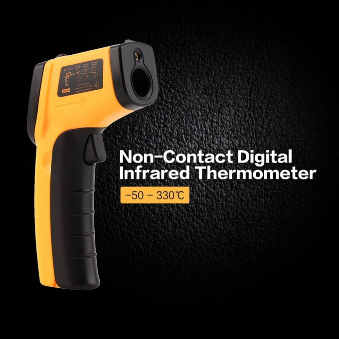 Or Digital Lcd Thermomètre Infrarouge Sans Contact Laser Ir Pistolet Thermique Température Yellow