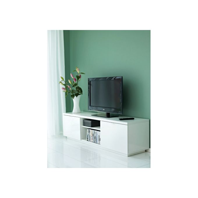 Meuble Tv Byas Blanc Ultra Brillant 160 X 42 X 45 Cm