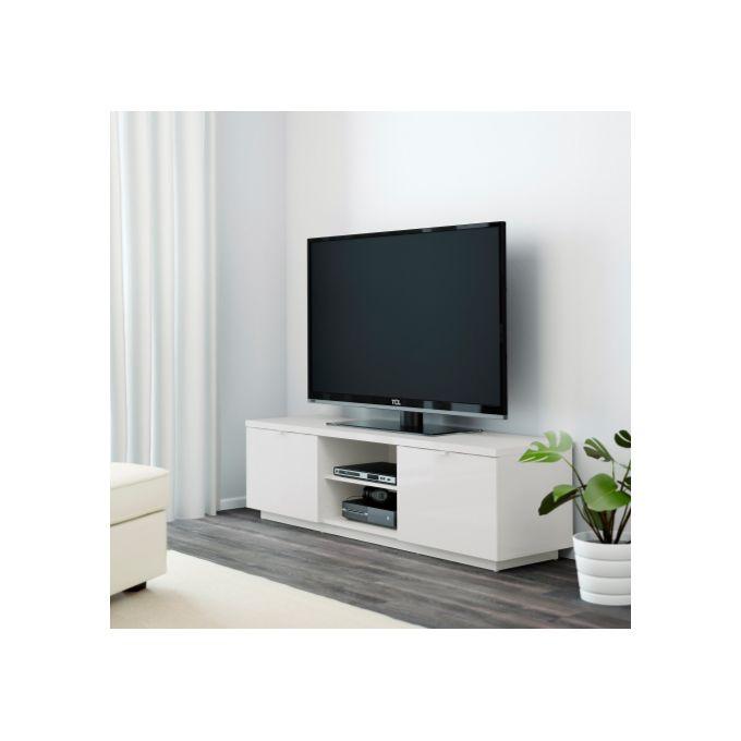 Meuble Tv Byas Blanc Ultra Brillant 160 X 42 X 45 Cm