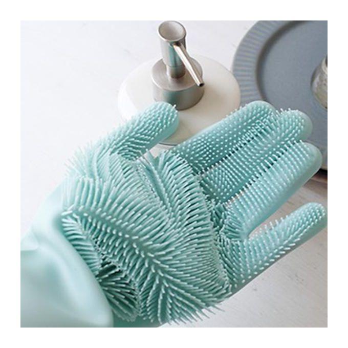 Gants De Nettoyage En Silicone Brosse éponge Silicone à Laver Vaisselle Réutilisables High Quality