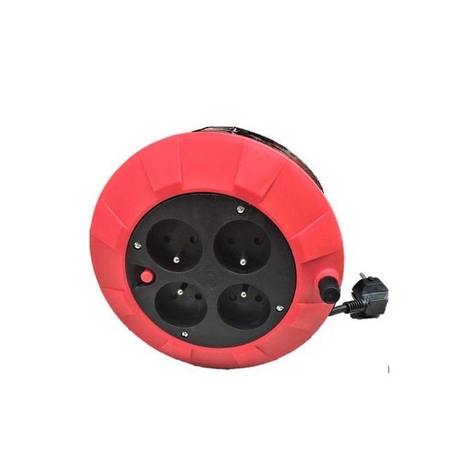 Enrouleur De Câble électrique Bricolage Ménager Long 5m Rallonge Garantie 2 Ans