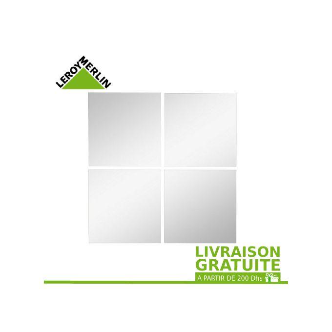 Leroy Merlin Lot De 4 Miroirs Adhesifs Carres Long 15 X Larg 15 Garantie 2 Ans A Prix Pas Cher Jumia Maroc